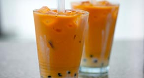 Thai Iced Tea with Boba