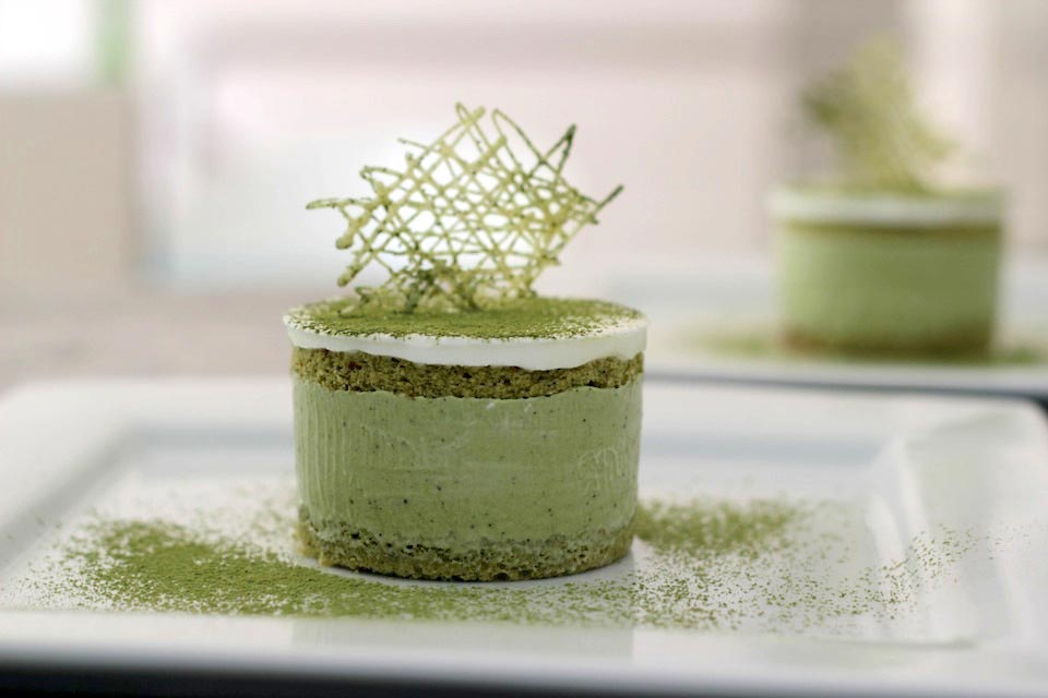Matcha Green Tea Mousse Cake Recipe
