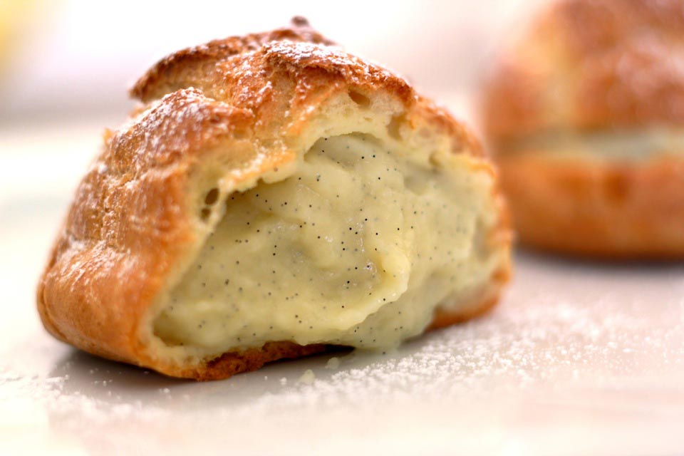Cream Puff Recipe with Vanilla Bean Pastry Cream