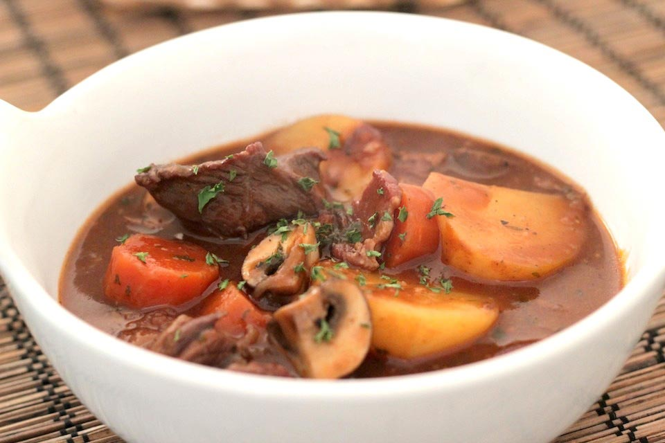 Here's my easy beef stew (beef bourguinon) recipe!