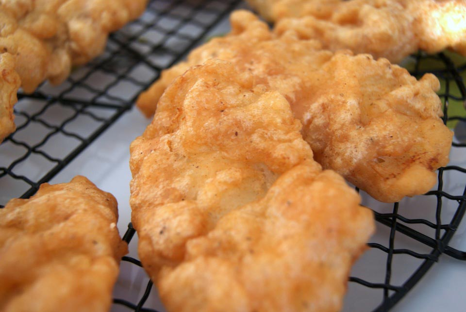 Beer battered fish and chips recipe for Deep fried fish