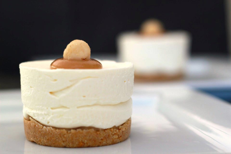 No Bake White Chocolate Macadamia Nut Cheesecake Recipe