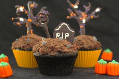 Halloween Mocha Cupcakes