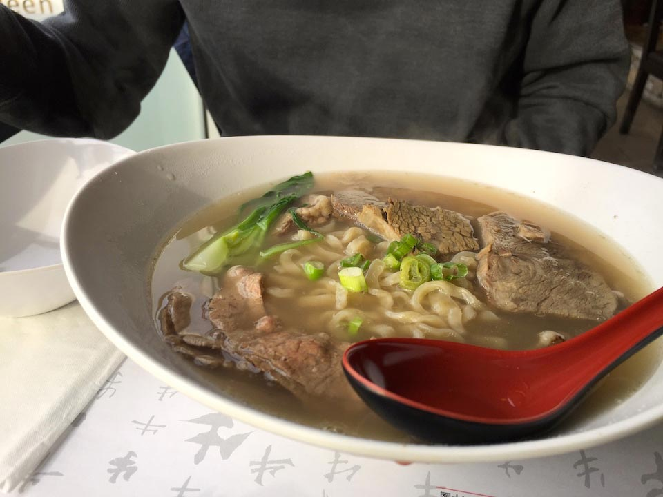 Beef Brisket with noodles in Clear Soup