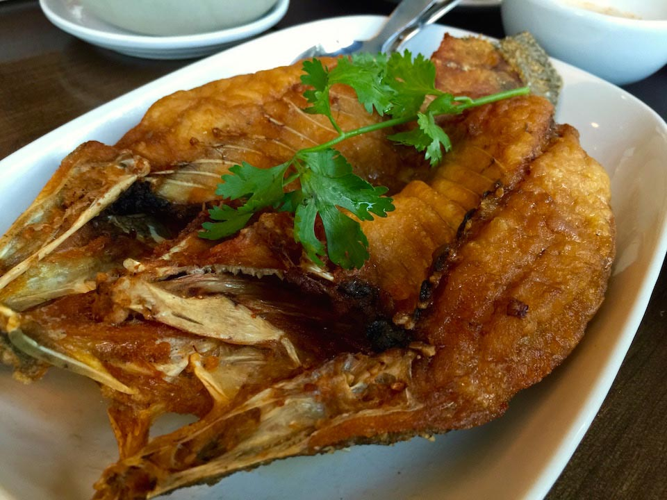 Fried Snapper with Chili lime sauce